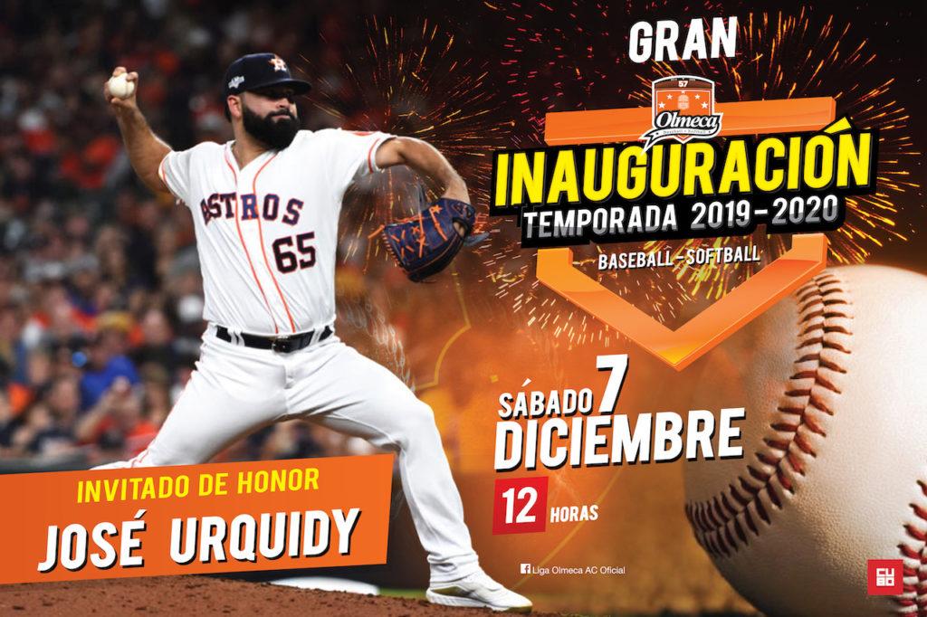 invitado especial inauguración de temporada Liga Olmeca 2019 2020